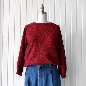 Vintage 70s Donnkenny Textured Pullover Sweater
